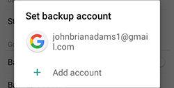 Samsung J3/J7 Back Up Restore Google Account