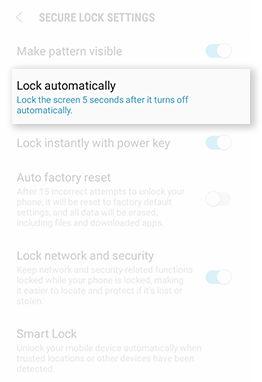 Samsung J3/J7 Screen Lock Type Pattern Password