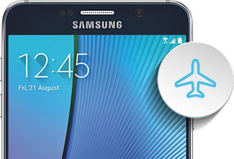 Galaxy Note5 Airplane mode intro image
