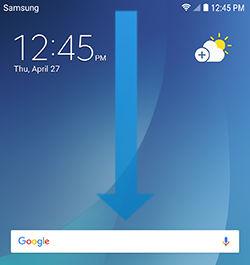 Galaxy Note5 swipe down Notification panel