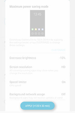 Samsung Galaxy Note5 Monitor Extend Battery Life