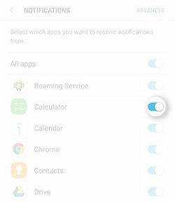 Samsung Galaxy Note5 Change App Notifications