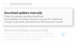 Samsung Galaxy Note5 Software Update