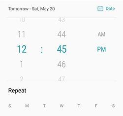 Samsung S6 edge edge+ Add Delete Alarm