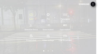 Galaxy S6 Camera Modes Select More Options