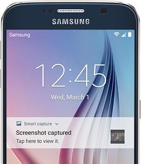 Galaxy S6 Taking a Screenshot