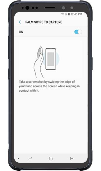 Palm swipe to take a screenshot