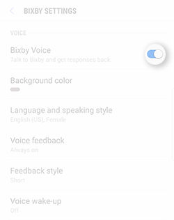 Galaxy S8 Plus Bixby Voice Set Up Settings