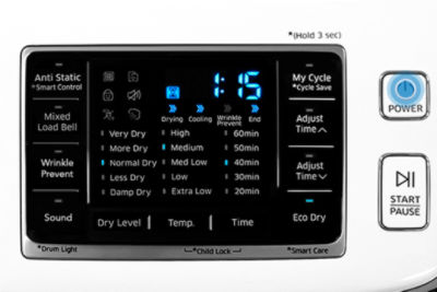 Samsung Dryer Power On