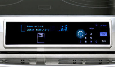Samsung Slide-in Electric Range Adjusting Temperature
