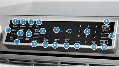 Samsung NE58K9560 Control Panel Overview