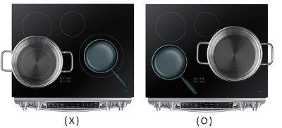 Samsung Slide-In Range Correct Size Cookware
