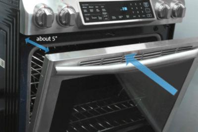Samsung NX58K9850 Remove Reinstall Oven Door