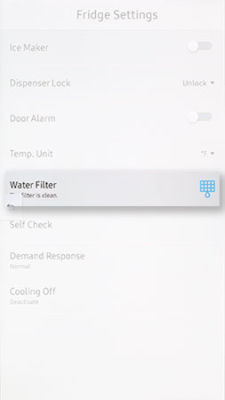 Samsung Family Hub Water Filter Reset