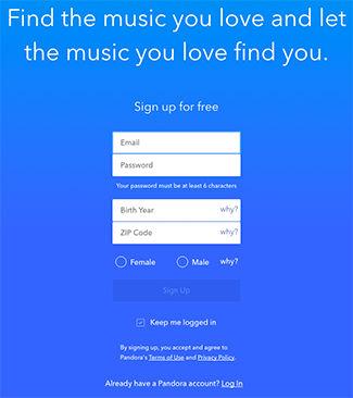 Samsung Family Hub Pandora Register
