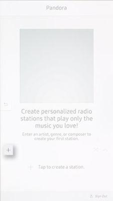 Samsung Family Hub Pandora Create Station