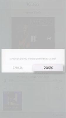 Samsung Family Hub Pandora Delete