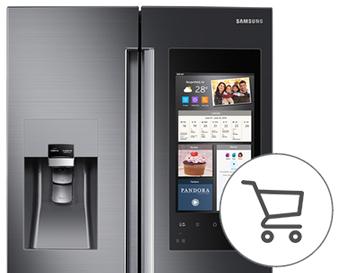 Samsung Family Hub using shopping list