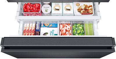 Samsung French Door Refrigerator Remove Replace Freezer Basket