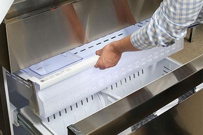 Samsung French Door Refrigerator Remove Upper Freezer Basket