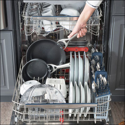 Samsung Dishwasher Washing Plastic Items