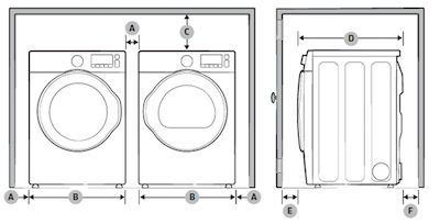 Samsung Front Load Washer Side by Side Installation