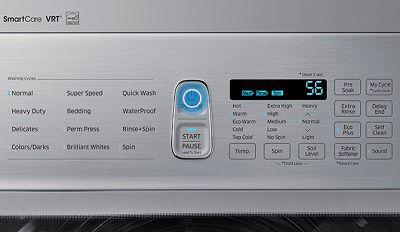 Samsung Washer Press Power Button