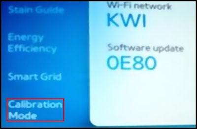 Samsung Calibration Mode