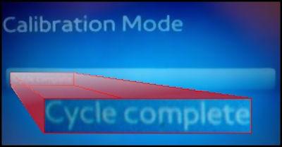 Samsung Calibration Complete