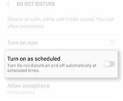Samsung Galaxy S8 S8+ Distraction Free Do Not Disturb