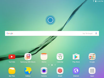 Samsung Touch and Hold Empty Area on Screen