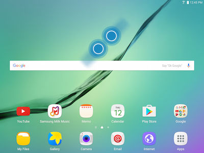 Samsung Pinch Fingers Together on Screen