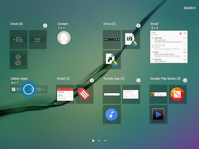 Samsung Touch and Hold Galaxy Apps Widget