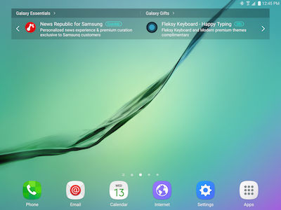 Samsung Will be Released to Next Home Screen if No Room