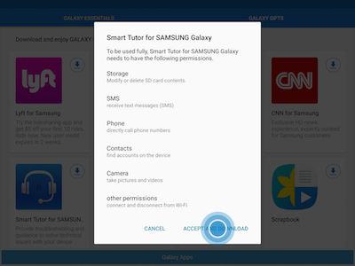 Samsung Touch ACCEPT AND DOWNLOAD
