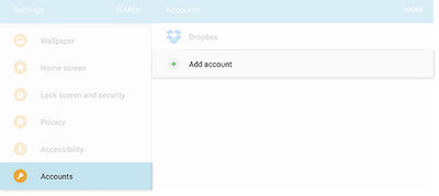 Samsung Navigate to Settings > Accounts > Add account
