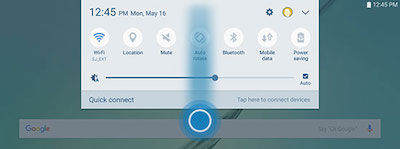 Samsung To switch between users, open the Notification Panel