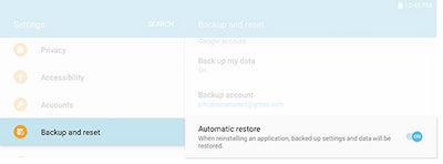 Samsung Galaxy Tab E Backup and Restore
