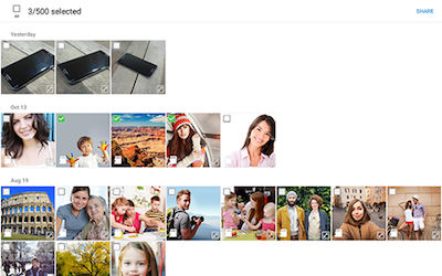 Samsung Touch images and videos to share