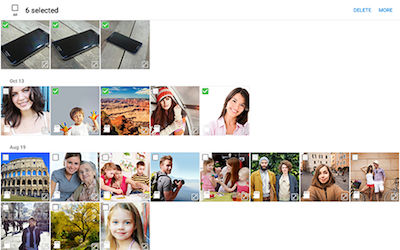 Samsung Touch images and videos to select them