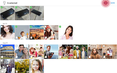 Samsung Touch DELETE