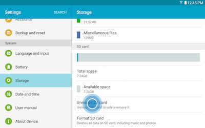 Samsung Galaxy Tab A MicroSD Card