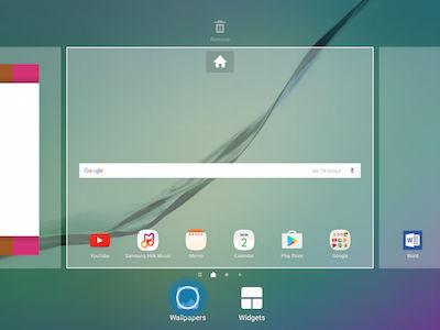 Samsung Galaxy Tab S2 Home and Lock Screen Change