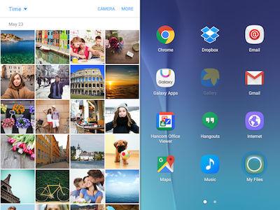 Samsung Galaxy Tab A Split Screen View