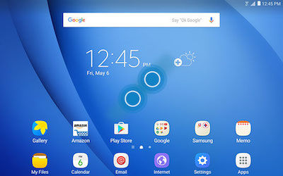 Samsung Touch and hold the screen to access Widgets