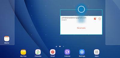 Samsung Adjusting Size of Widget