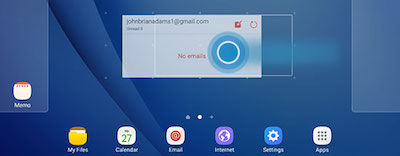 Samsung to Move Widget, Touch and Drag to New Location