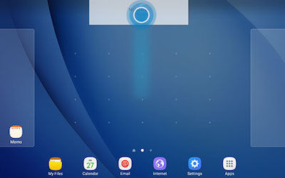 Samsung Drag Widget to Top of Screen to Remove