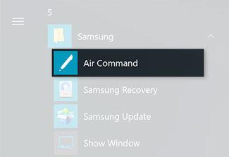 Samsung Galaxy Book Air Command