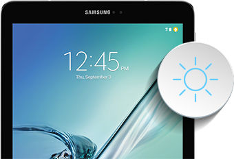 Samsung Galaxy Tab S2 Adjusting the Screen Brightness